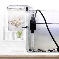 Aquarium Hang-on Breeder Box Fish Isolation Tank with Water Pump